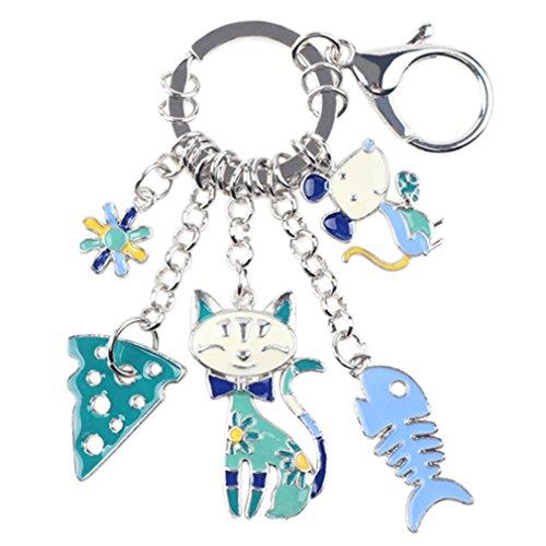 Key Chain Girl Decorative Keychain Charm Pendant Jewelry Trinket - Initial Trinket Charm
