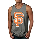 Show Time Men's Giant SF Logo Sportstyle Sleeveless Shirt Vest DeepHeather