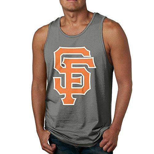 Show Time Men's Giant SF Logo Performance Sleeveless Shirt Vest DeepHeather XXL