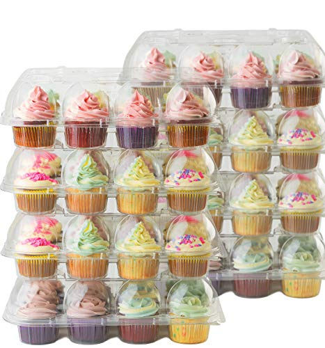 - Cake Shield Clear Cupcake Boxes [8 Pack] Premium Cup Cake Carrier Container Holds 12 Cupcakes. 4
