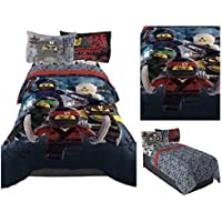LEGO Ninjago Comforter & Bedding Sheet Set - Twin