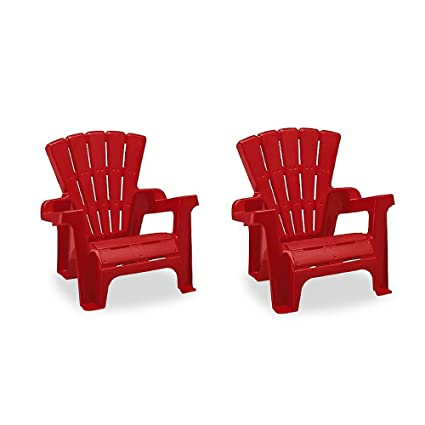 American Plastic Toy Adirondack Chair In Red (2 Packs)