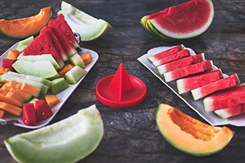 Patented Watermelon Slicer Stand - My MelonAid Cutter - Push, Cut & Eat Healthy - Safe, No Mess and No Stress - Tool for All types of Melons by My MelonAid (Image #7)
