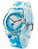 Kids' Watch, Surpriseyou Cartoon Flowers Children's Watch Women Girls' Watch with Blue Love Rubber Band