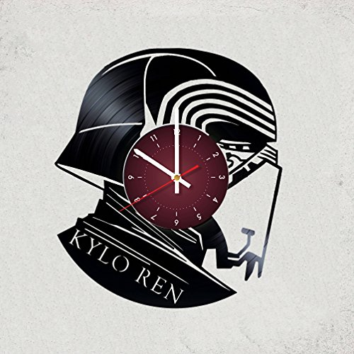 KYLO REN Star War Vinyl Record Designed Wall Clock Decor, Best gift for Him or Her, Girlfriend or Boyfriend (Star Wars)