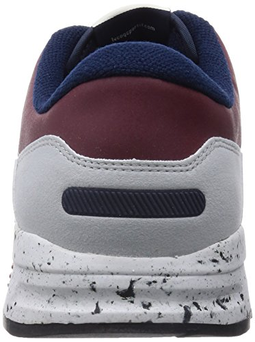dd4572b98aeb Le Coq Sportif Mens Ruby Wine Speckled LCS R 1400 Trainers-UK ...