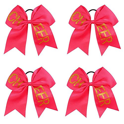 CN 4pcs Cheer Bows With Saying Cheerleader Hair Bows For Cheerleading Girls Performace …