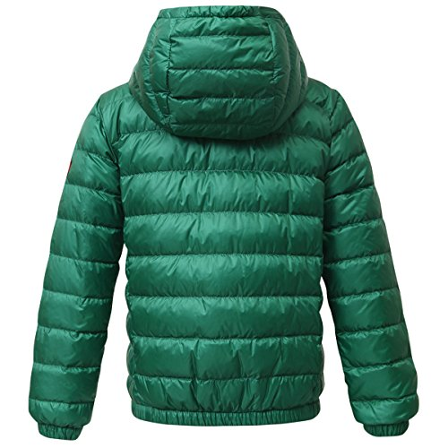 Rokka&Rolla Boys' Ultra Lightweight Hooded Packable Puffer Down Jacket (M (8), Verdant Green) by Rokka&Rolla (Image #3)
