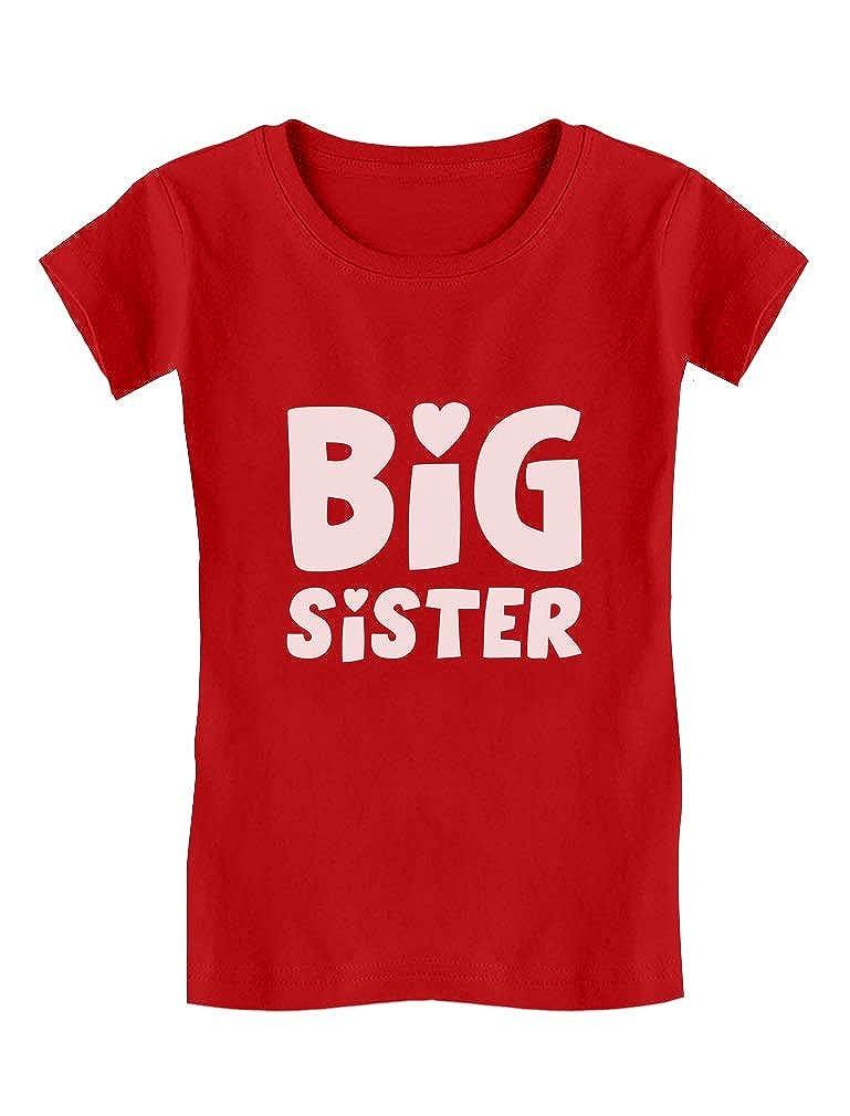 Big Sister - Elder Sibling Gift Idea Cute Toddler/Kids Girls Fitted T-Shirt GM0thagw5