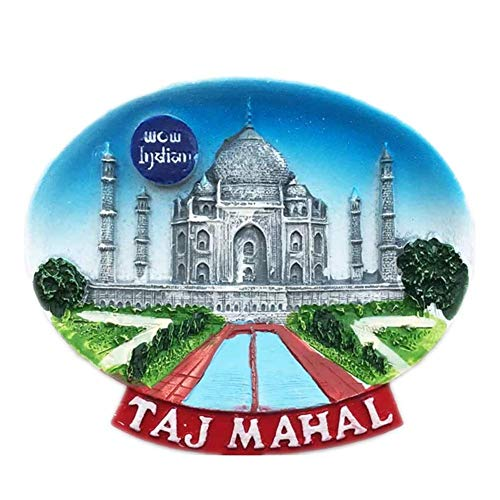 Fridge Magnet Taj Mahal Agra India 3D Resin Handmade Craft Tourist Travel City Souvenir Collection Letter Refrigerator Sticker