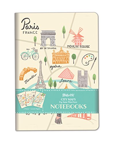 Studio Oh! 3-Pack Notebooks in Coordinating Designs Available in 12 Different Bundles, Anne Was Here City Maps
