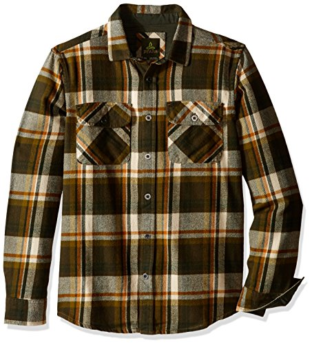 prAna Men's Lybeck Shirt, Medium, Cargo Green