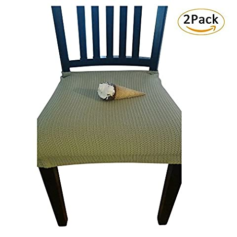 Waterproof Dining Chair Cover Protector - Pack of 2 - Perfect For Pets, Kids, Elderly, Wedding, Party - Machine Washable, Elastic, Removable, Premium Quality, Clean the Mess Easily (Light (Indoor Chaise Chair Cover)