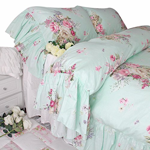 House Bedding (Queen's House Shabby and Chic Green Bedding Duvet Cover Queen Set)