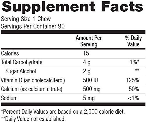 Bariatric Advantage - Calcium Citrate Chewy Bites Lemon 500mg - Lemon, 90 Count