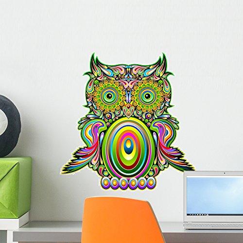 Wallmonkeys Owl Psychedelic Pop Art Design-psychedelic