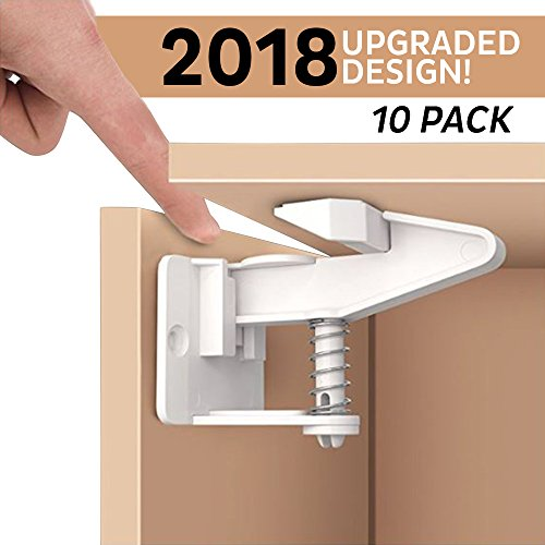 Guard Lock Rail (American Baby Central Baby Proofing Child Safety Cabinet Locks; Universal, Safe, Simple Child Proofing Cabinets, Drawers, Dresser, Cupboard Doors and House with Ease Tool-Free Installation)