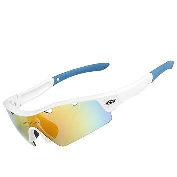 QXHMYJ Gafas de Sol Deportivas Luz polarizada Gafas de Ciclismo Protección UV 400 Anti-Niebla