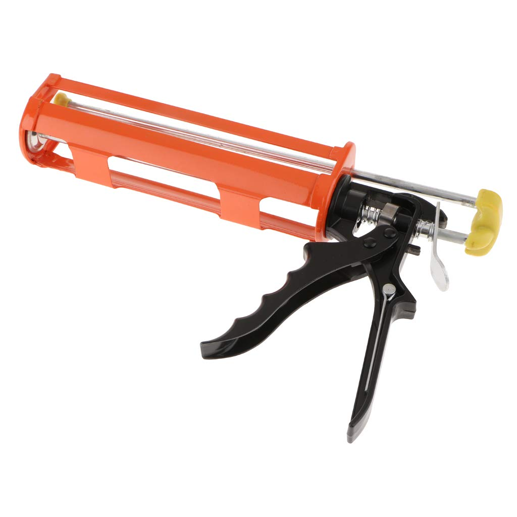 B Blesiya New Aluminum Alloy Caulking Squeeze Caulk Gun Workforce Multifunction Orange