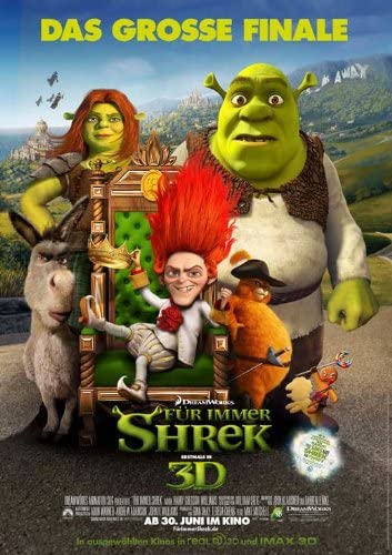 Amazon Com Shrek Forever After 2010 11 X 17 Movie Poster German Style F Prints Posters Prints