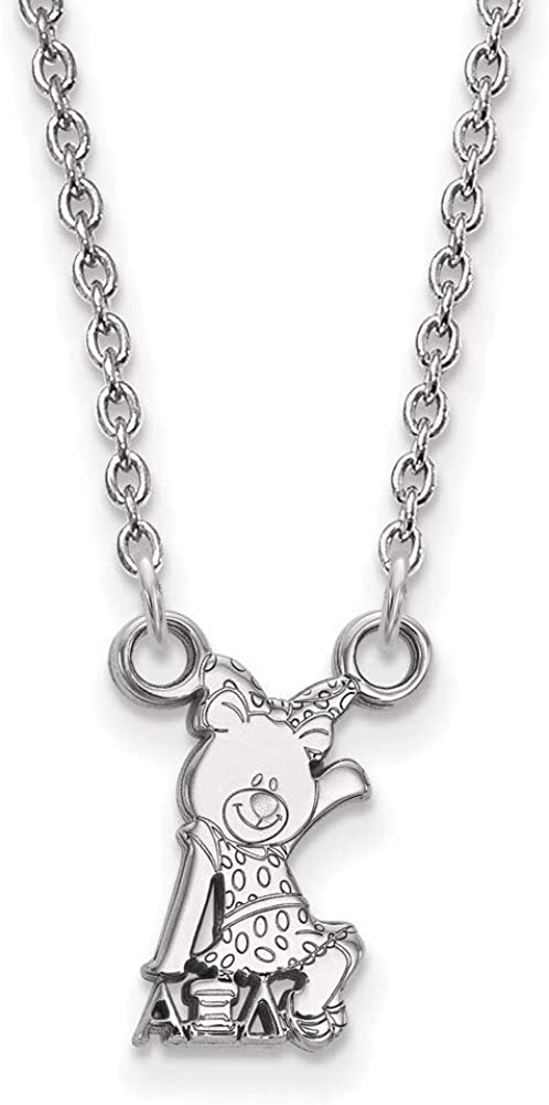 Lex /& Lu LogoArt Sterling Silver Alpha Xi Delta XS Pend w//Necklace LAL163642