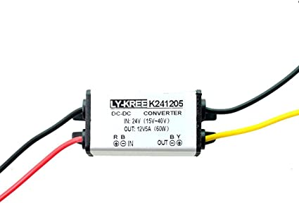 Cocar Truck Power Supply Voltage Converter 24 V To 12 V 5 A 60 W Transformer Adapter Converter For Motor Car Boat Solar System Dc15 40 V Wide Input Elektronik