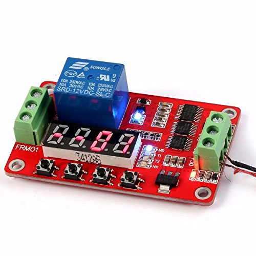 HonsCreat Newer Version 12V Multifunction Relay Cycle Timer Module - Programmable with Customized Settings (Increased to 18 (Ac Current Sensing Coil)