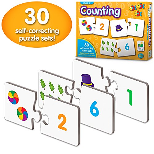 The Learning Journey: Match It! - Counting - Self-Correcting Number & Learn to Count Puzzle -