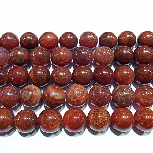 TheTasteJewelry 8mm Round Mexican Fire Agate Import Beads 15 inches 38cm Jewelry Making Findings Necklace Healing Maker Supply Art Design Bulk Wholesale Women Men Children Pet Small Gems Power