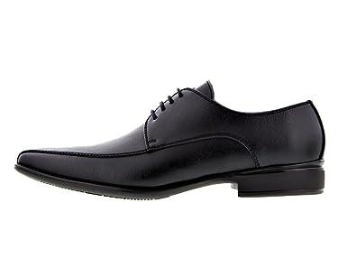 c838ddb8934c1 Amazon.com   NOAH Men's Enrico Slim Vegan Dress Shoe in Black   Shoes