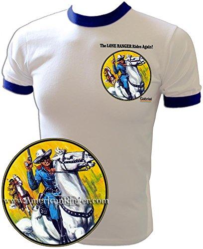 - Vintage 1970s The Lone Ranger Rides Again Tonto Cartoon Gabriel Toy T-Shirt