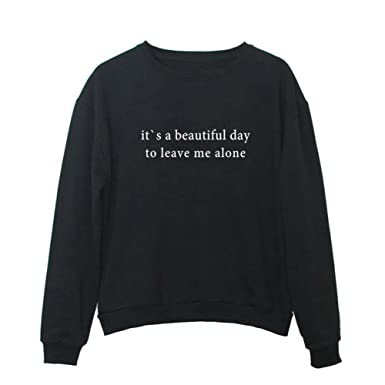 YITAN Women Graphic Cute Sweaters Funny Pullover Teen Girls Sweatshirts  Black Small