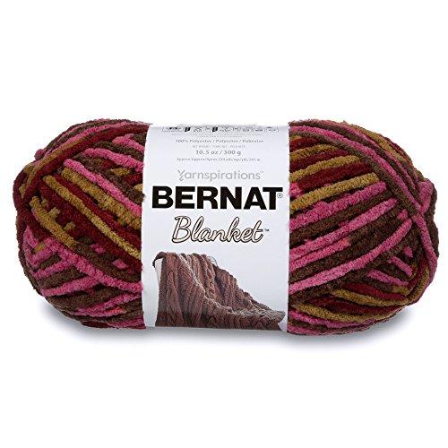 Bernat 16111010302 Blanket Yarn, 10.5 Ounce, Plum Chutney, Single Ball Bernat Yarns Patterns