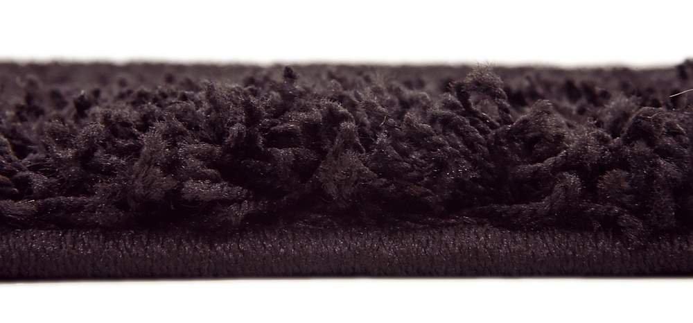 Unique Loom Solo Solid Shag Collection Jet Black Plush Area Rug (5 x 8)