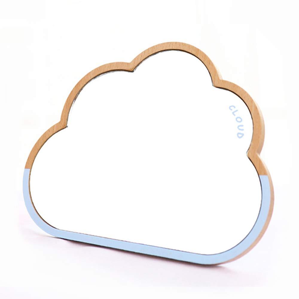 TBWHL Cloud Desktop Mirror Makeup Mirror for Tabletop Bathroom Shower Travel Hand Mirror