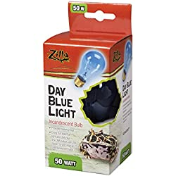 Zilla Reptile Terrarium Heat Lamps Incandescent Bulb, Day Blue, 50W