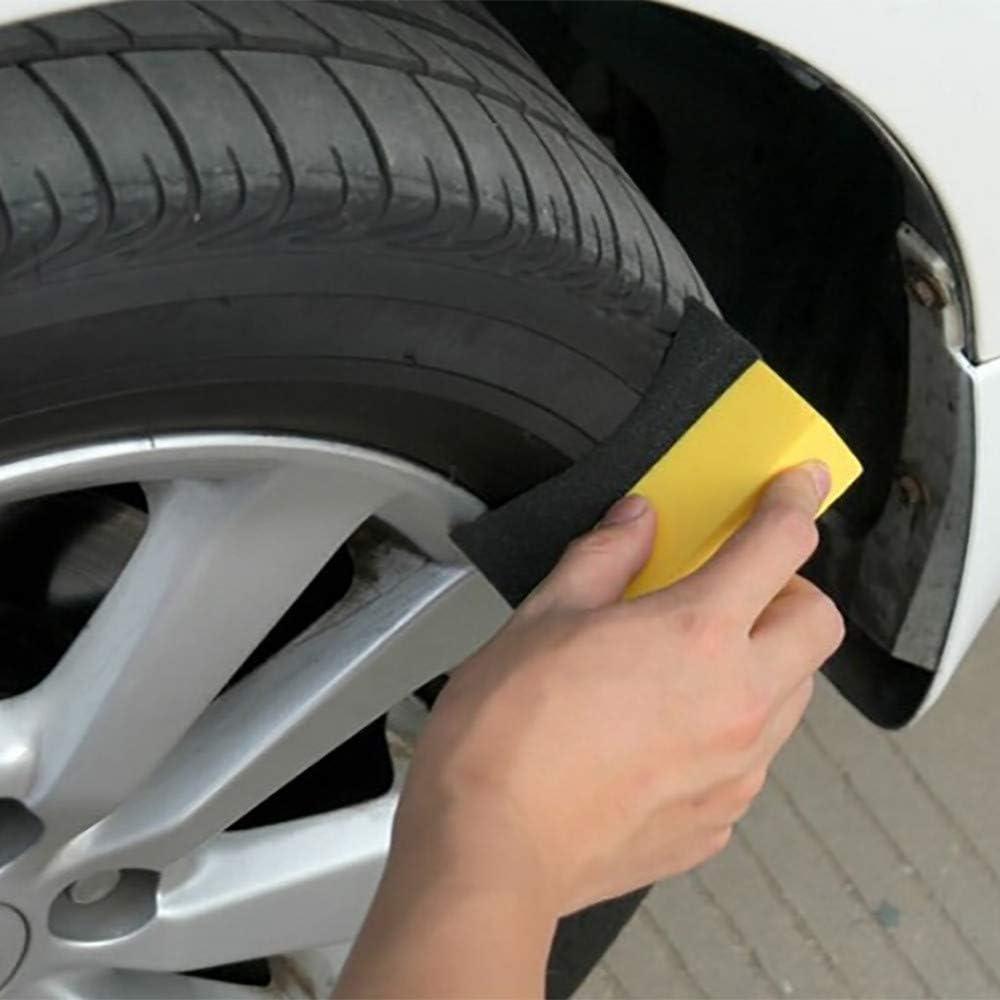 Ogquaton 2pcs Car Tire Waxing Polishing Sponge Brush Wheel Cleaning Foam Sponge Pad New Released