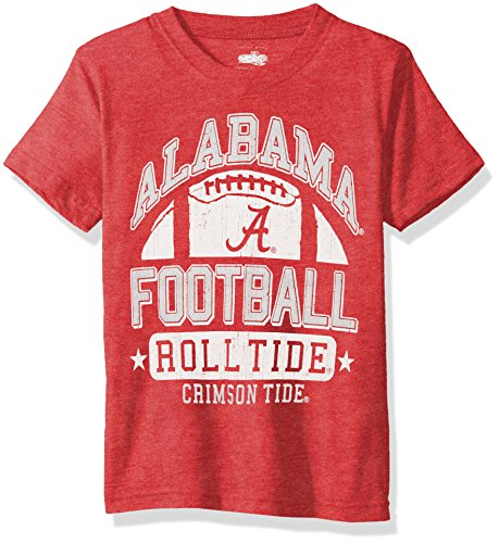 NCAA Alabama Crimson Tide Children Boys Short Sleeve Blend Tee,L,Bullseye Red Blend