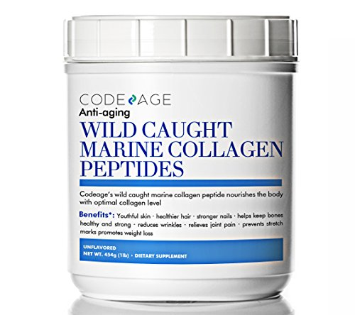 Premium Marine Collagen Powder 16oz - 100% Wild-Caught Hydrolyzed Fish Collagen Peptides - Type 1 & 3 Collagen Protein Supplement - Paleo Friendly, Non-GMO, Gluten Free