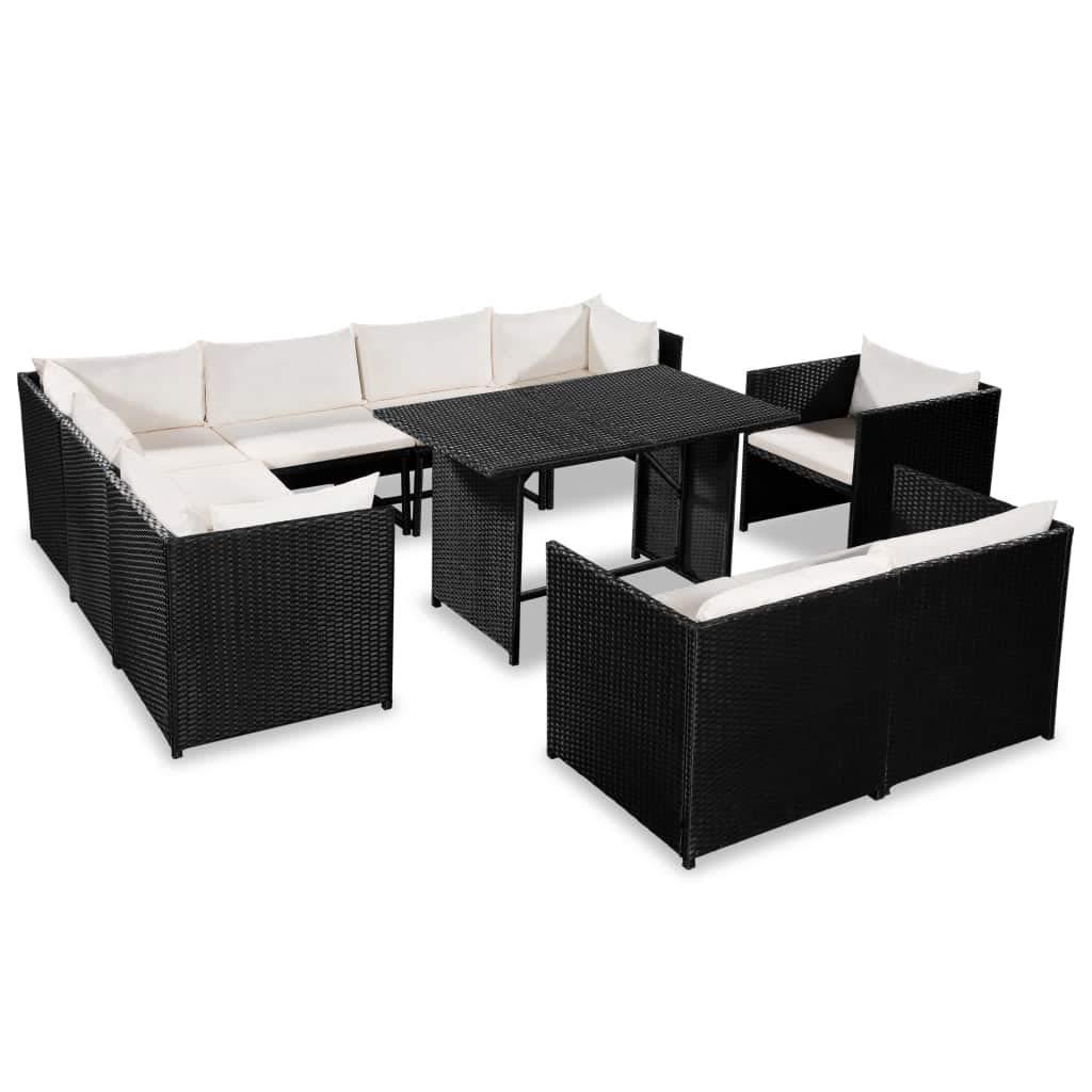 Festnight- Gartensofa-Set 31-TLG. Balkon Lounge Ecke ...