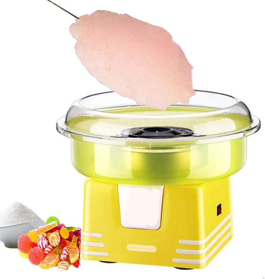 Maquina de Algodón de Azúcar de plásticopara Fiesta y Ocasiones Especiales, 500W Cotton Candy Machine para Casa, Usar Azúcar Normal o Caramelos Duros, palitos Madera y Cuchara dosificadora: Amazon.es: Hogar