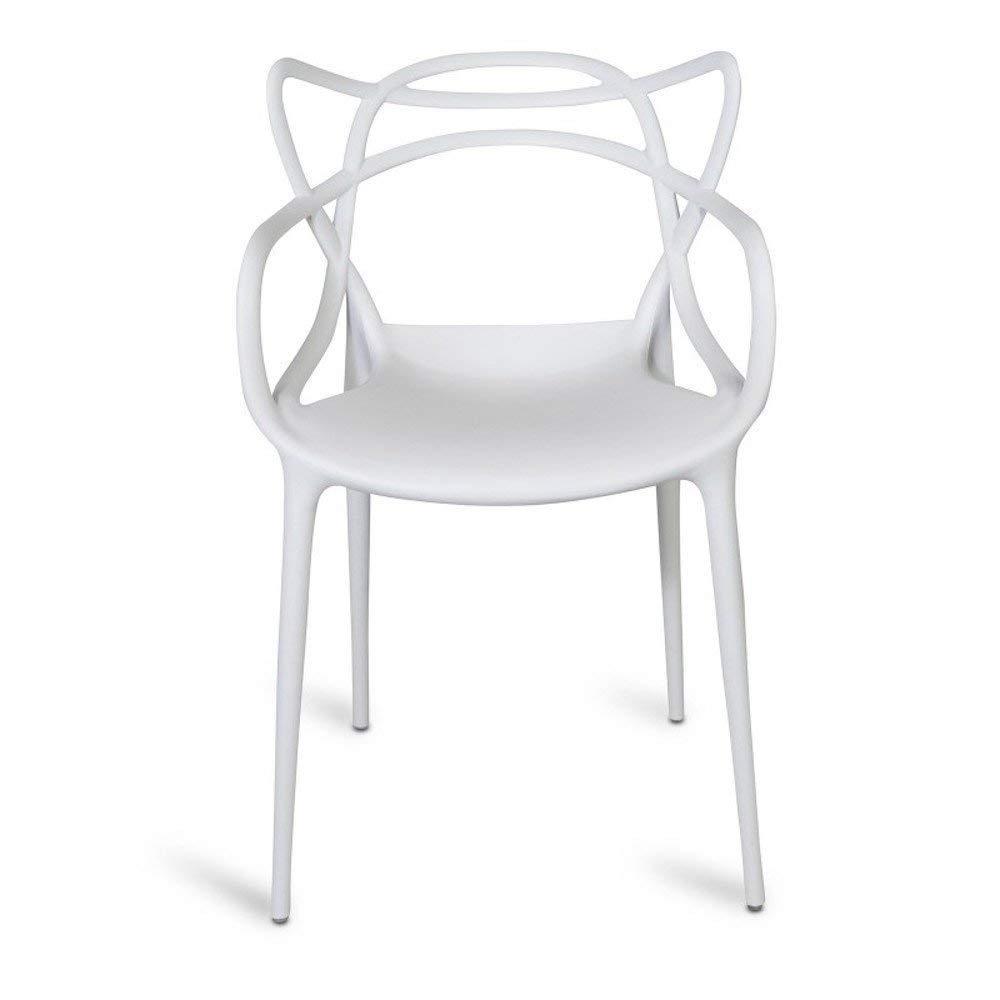 chairs4you Stuhl weiß inspiriert Master Büro Wohnzimmer Esszimmer Terrasse Garten Küche Außen Innen