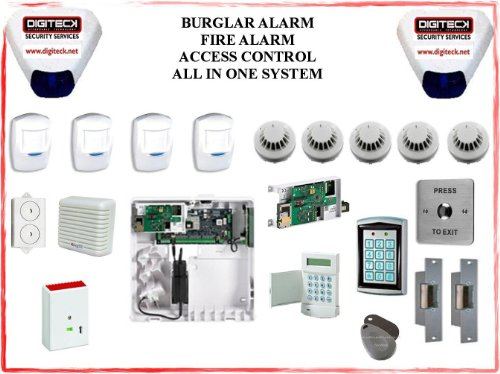 TC319- HONEYWELL GALAXY FLEX FX020 DOOR ACCESS CONTROL, BURGLAR & FIRE ALARM SYSTEM