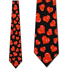 Hearts TIES Valentines Day Men's Neck tie heart