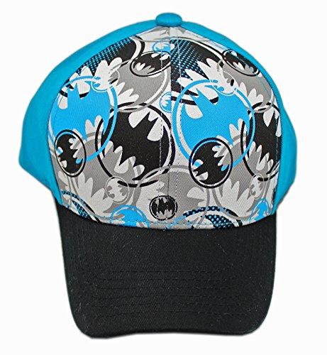Dc Print Hat (DC Comics Boy's Batman All Over Print Sublimated Adjustable Baseball Cap, Black, One Size)