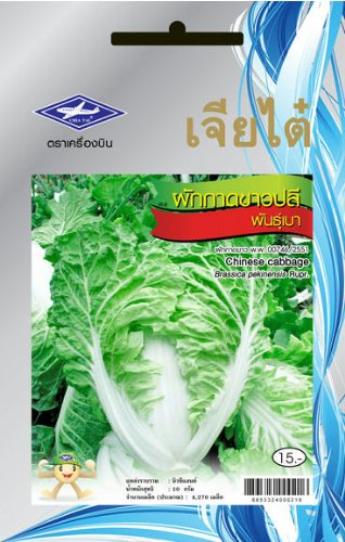 Cheap Chinese Cabbage (4270 Seeds) Seeds (Light Weight) – 1 Package From Chai Tai, Thailand