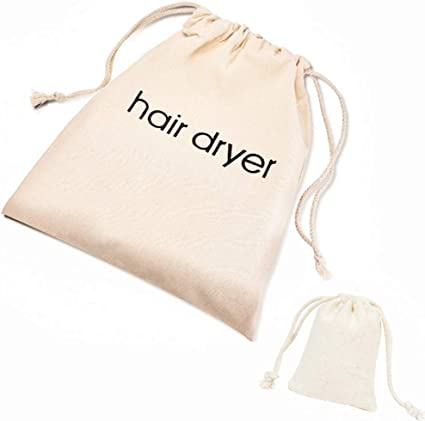 2 bolsas de algodón para secador de pelo, bolsa de algodón con ...