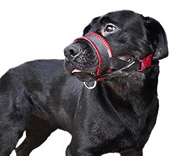 Niteangel Quick Fit Nylon Dog Muzzle, Adjustable Loop, Black
