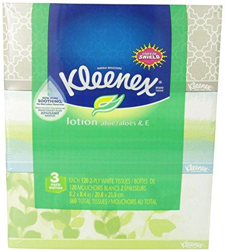 سعر Kleenex Lotion Facial Tissue, 120 Count, (3 Pack)