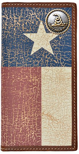 (Custom Don't Tread On Me Long Wallet with a Distressed Texas Lone Star Flag)